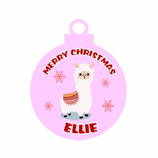 Llama Acrylic Christmas Ornament Decoration